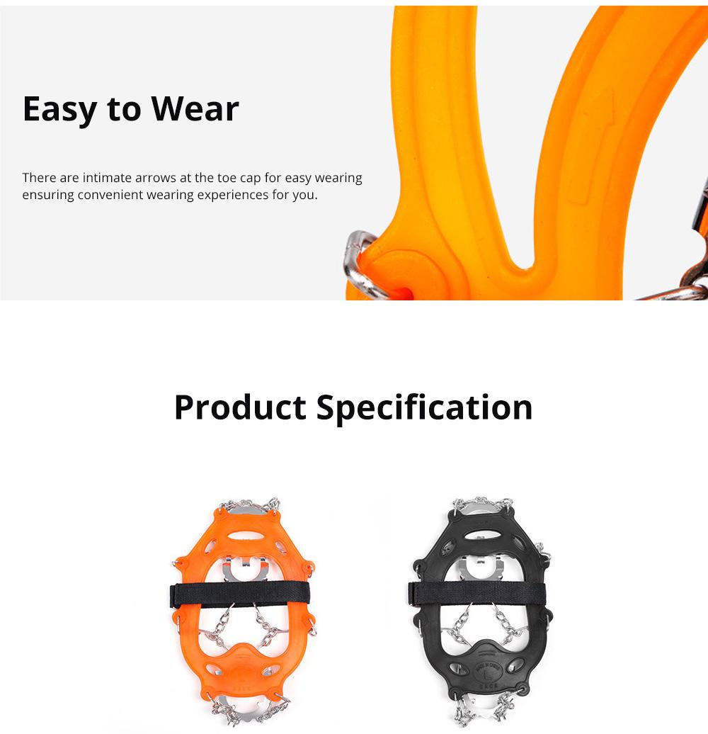 Professional Mountain Climbing Ice Surface Walking Hiking Adjustable Crampons Suit with Storage Bag 4