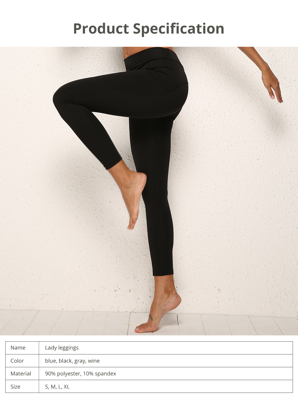 Minimalist Fashionable Functional Fit Slim Yoga Exercise Sports Leggings Tights Capris with Pocket for Women Ladies 9