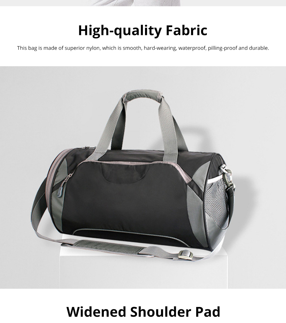 Fashion Waterproof Large Capacity Gym Sports Bag Traveling Bag Dry Wet Depart Handbag with Comfortable Handle Light weight 2
