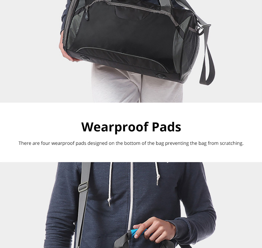 Fashion Waterproof Large Capacity Gym Sports Bag Traveling Bag Dry Wet Depart Handbag with Comfortable Handle Light weight 9