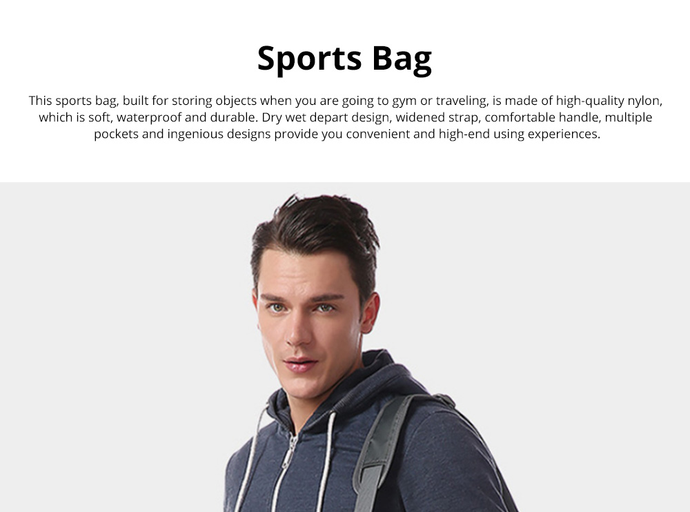 Fashion Waterproof Large Capacity Gym Sports Bag Traveling Bag Dry Wet Depart Handbag with Comfortable Handle Light weight 0