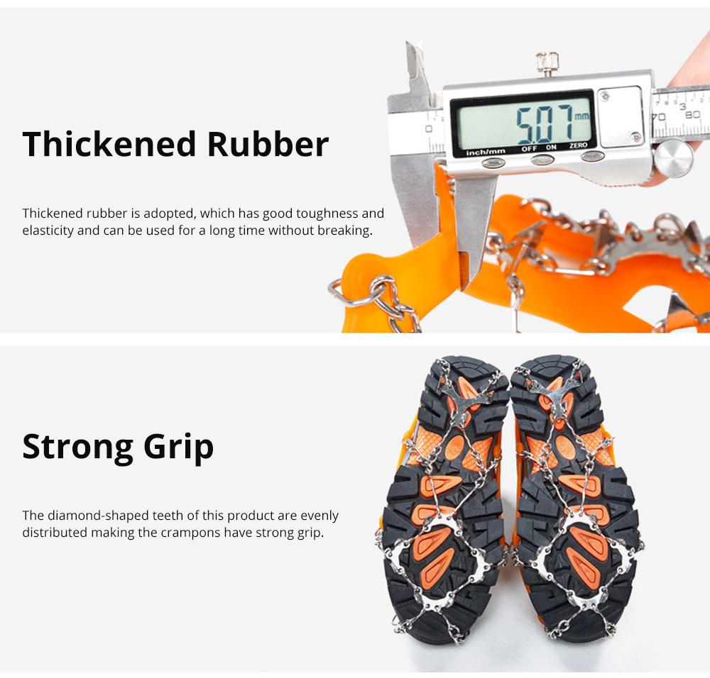 Professional Mountain Climbing Ice Surface Walking Hiking Adjustable Crampons Suit with Storage Bag 2