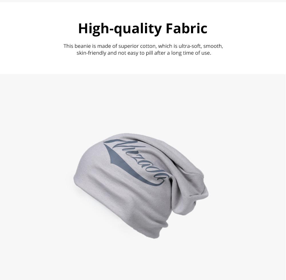 Stylish Minimalist Delicate Screen Print Warm Outdoor Sleeve Cap Knitted Beanie Hat Bonnet for Men Women 1