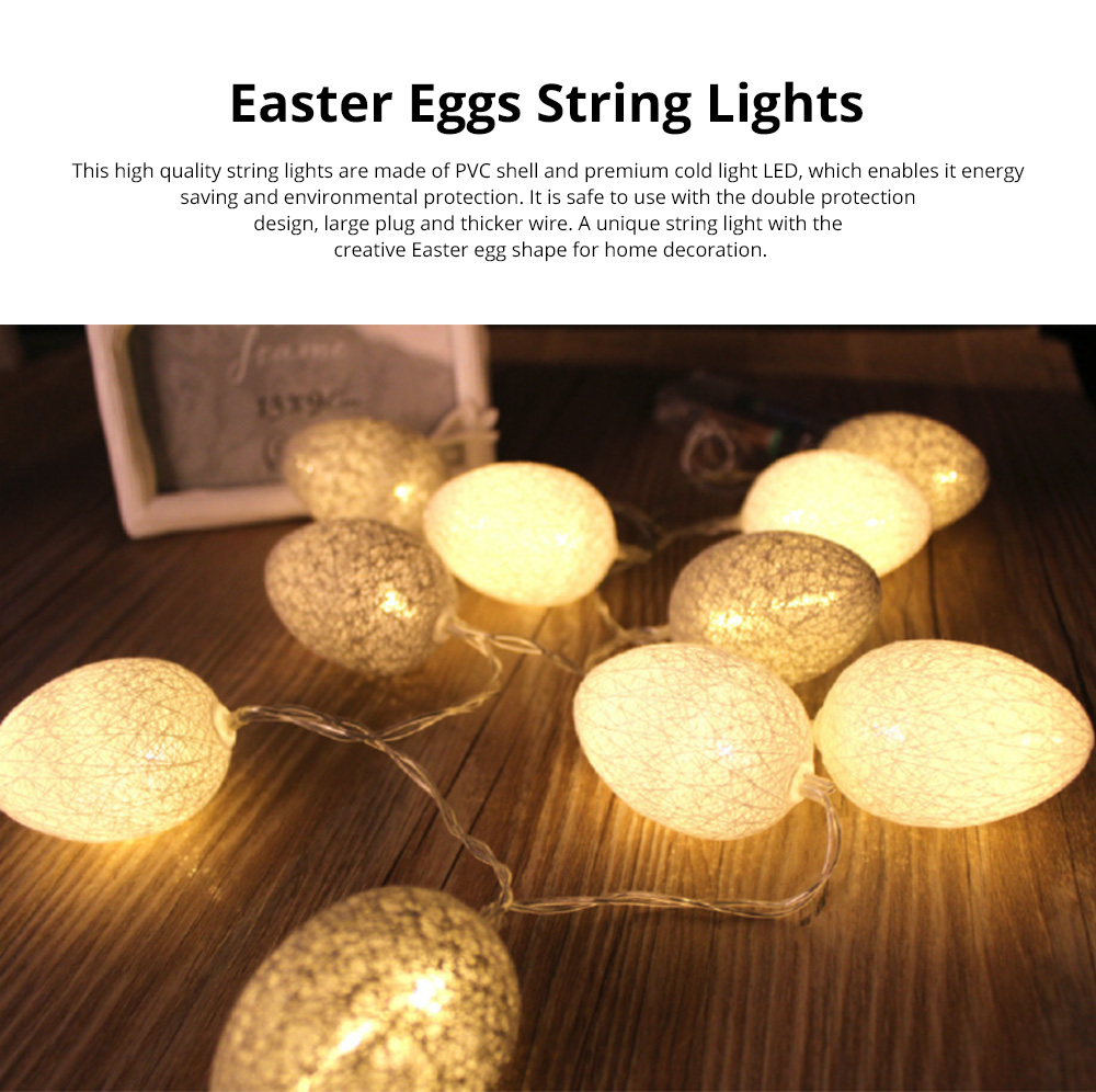 Colorful Easter Eggs String Lights with Remote Control Battery Operated String Light for Indoor and Outdoor Decoration 0