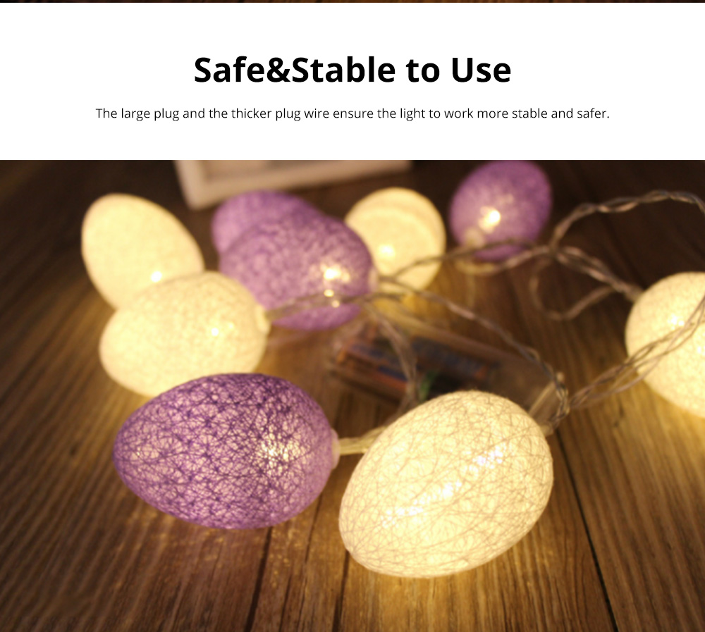 Colorful Easter Eggs String Lights with Remote Control Battery Operated String Light for Indoor and Outdoor Decoration 3