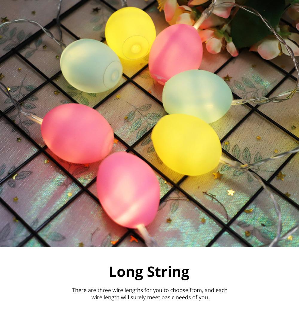 Delicate Creative Colorful Easter Egg Model Vinyl Eggs LED String Lights Bulb with Safety Batteries Holder 3