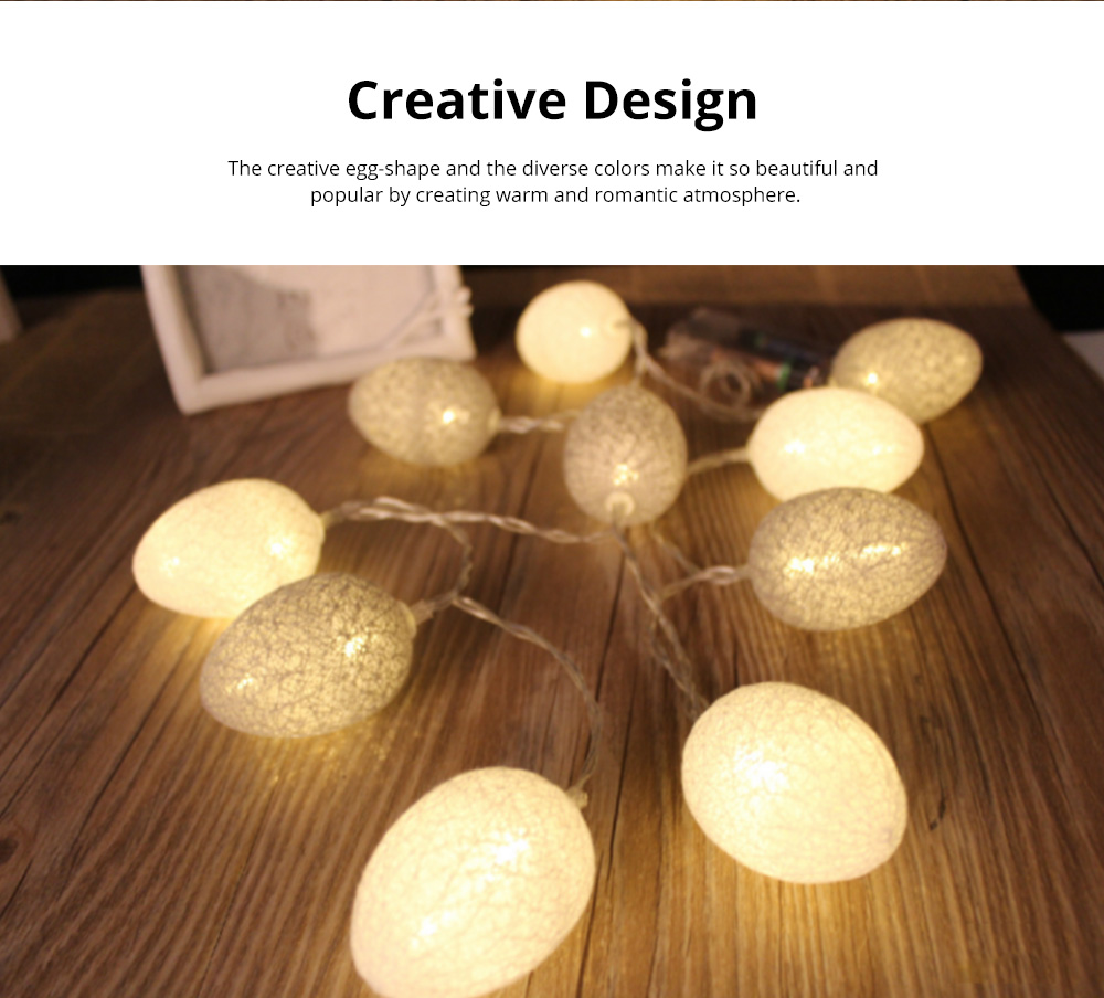 Colorful Easter Eggs String Lights with Remote Control Battery Operated String Light for Indoor and Outdoor Decoration 4