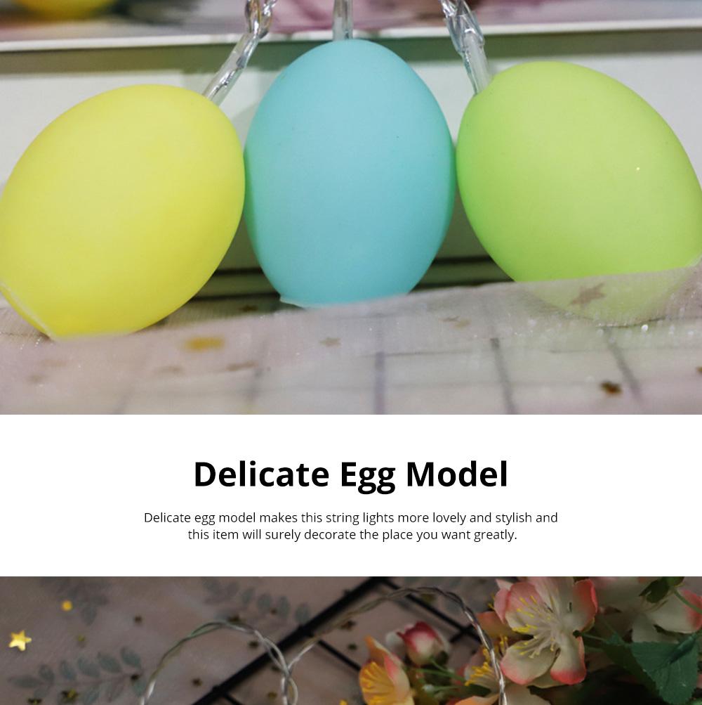 Delicate Creative Colorful Easter Egg Model Vinyl Eggs LED String Lights Bulb with Safety Batteries Holder 2