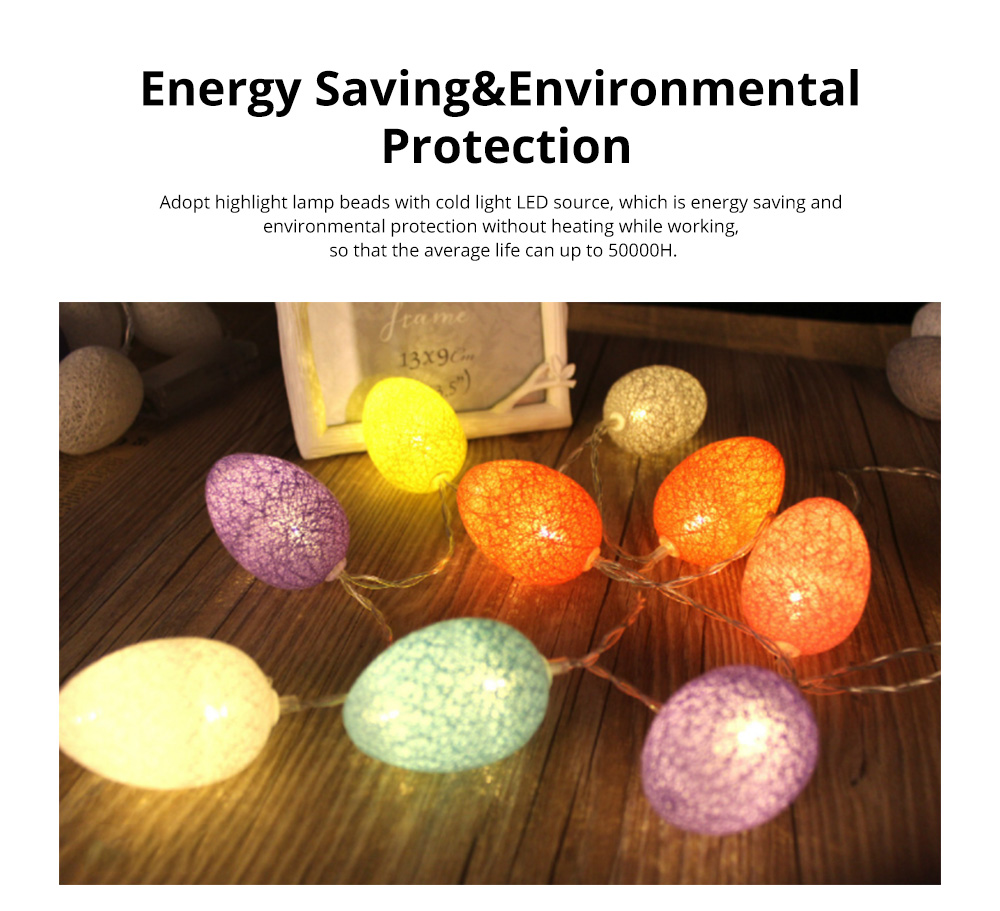 Colorful Easter Eggs String Lights with Remote Control Battery Operated String Light for Indoor and Outdoor Decoration 1