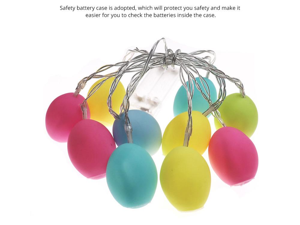 Delicate Creative Colorful Easter Egg Model Vinyl Eggs LED String Lights Bulb with Safety Batteries Holder 5