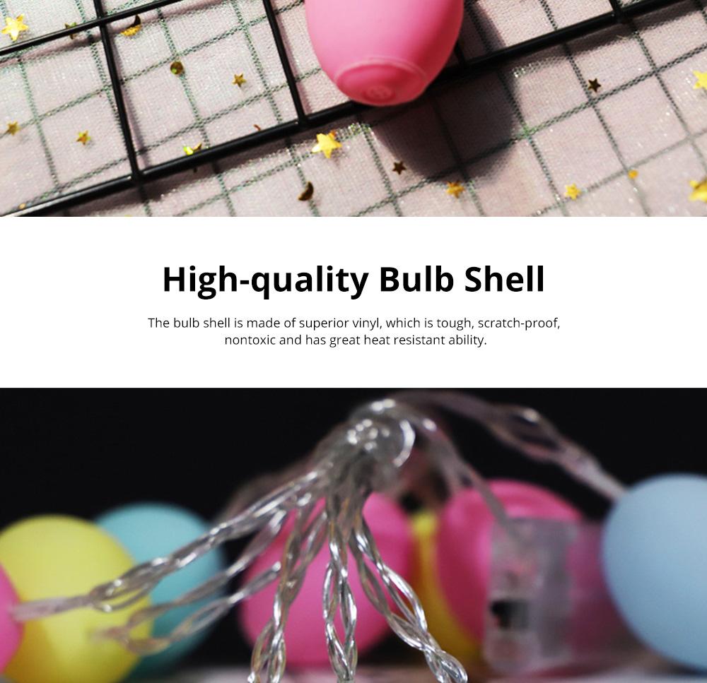 Delicate Creative Colorful Easter Egg Model Vinyl Eggs LED String Lights Bulb with Safety Batteries Holder 1