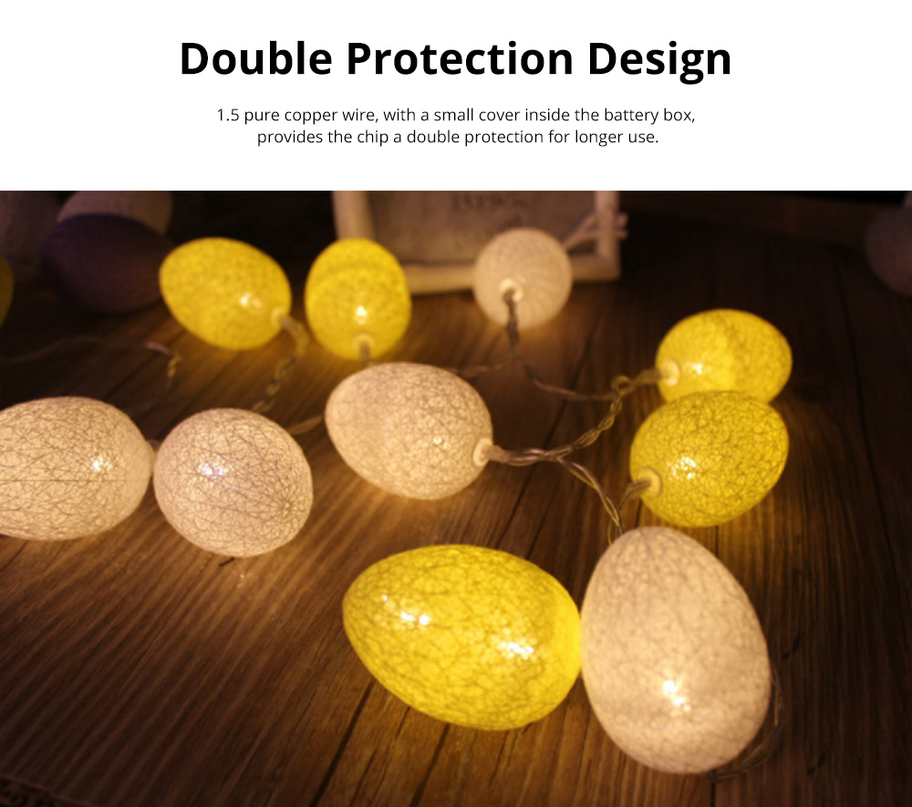 Colorful Easter Eggs String Lights with Remote Control Battery Operated String Light for Indoor and Outdoor Decoration 2