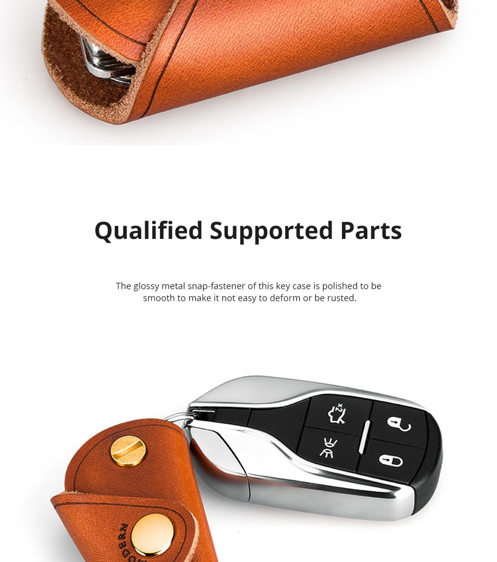 Retro Key Case for Key Storage Creative Real Cow Leather Key Storage Bag Soft Resilient Key Case Large Size Key Holder 4