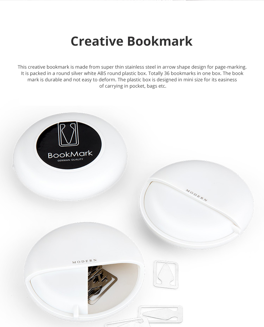Creative Reading Bookmark for Reading Mark Mini Stainless-steel Bookmark Fresh Arrow Designed Page-marker 36pcs 0