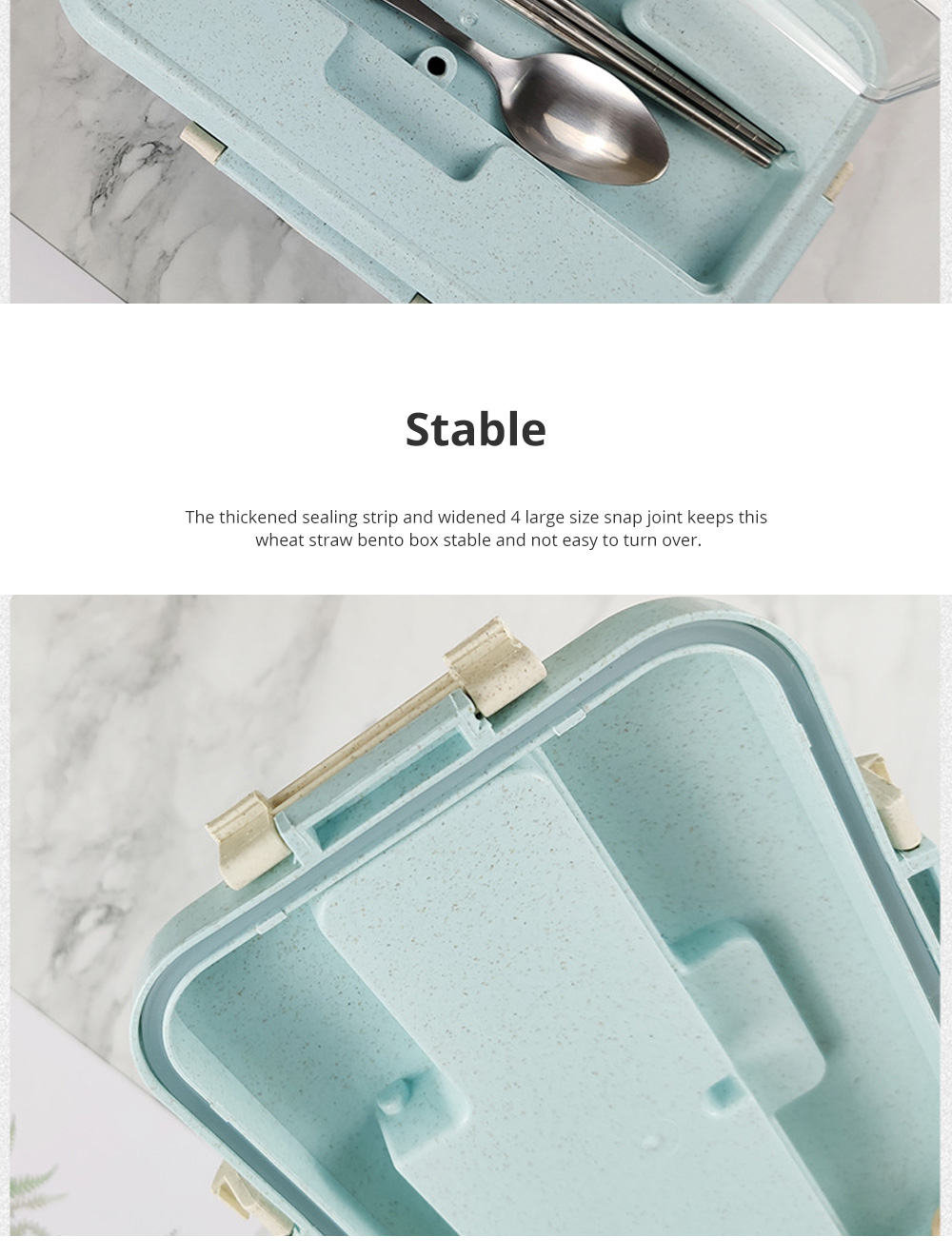 Creative Nordic Style Wheat Straw Bento Box for Students Portable Food Grade Wheat Straw Lunch Box 6