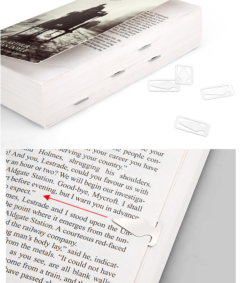 Creative Reading Bookmark for Reading Mark Mini Stainless-steel Bookmark Fresh Arrow Designed Page-marker 36pcs 4
