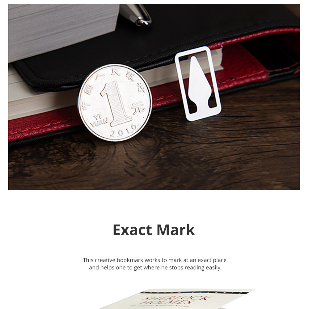 Creative Reading Bookmark for Reading Mark Mini Stainless-steel Bookmark Fresh Arrow Designed Page-marker 36pcs 3