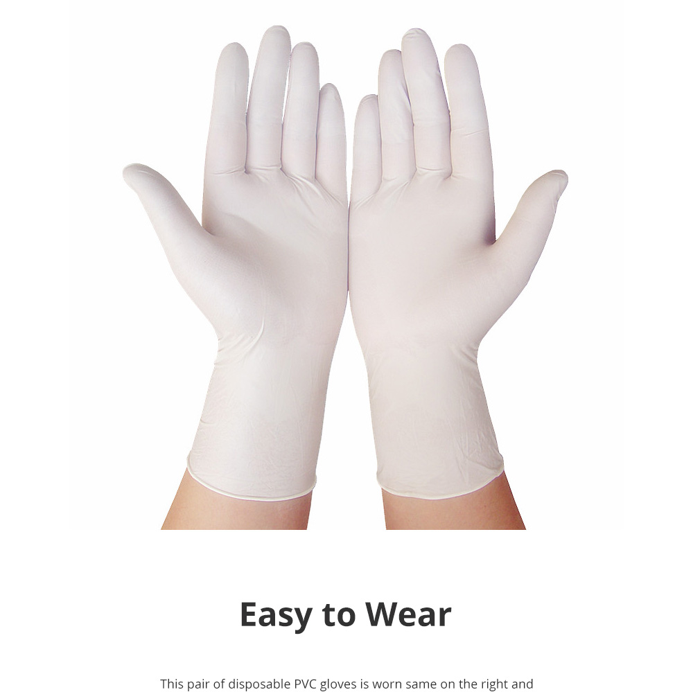 Disposable PVC Gloves for Baking Dish Washing Durable Food Grade Silicone Gloves Sensitive Touching Feel Gloves 100pcs 3