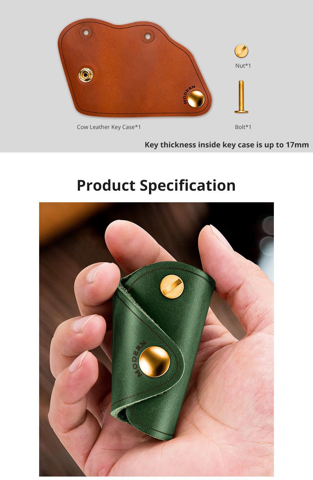 Retro Key Case for Key Storage Creative Real Cow Leather Key Storage Bag Soft Resilient Key Case Large Size Key Holder 7