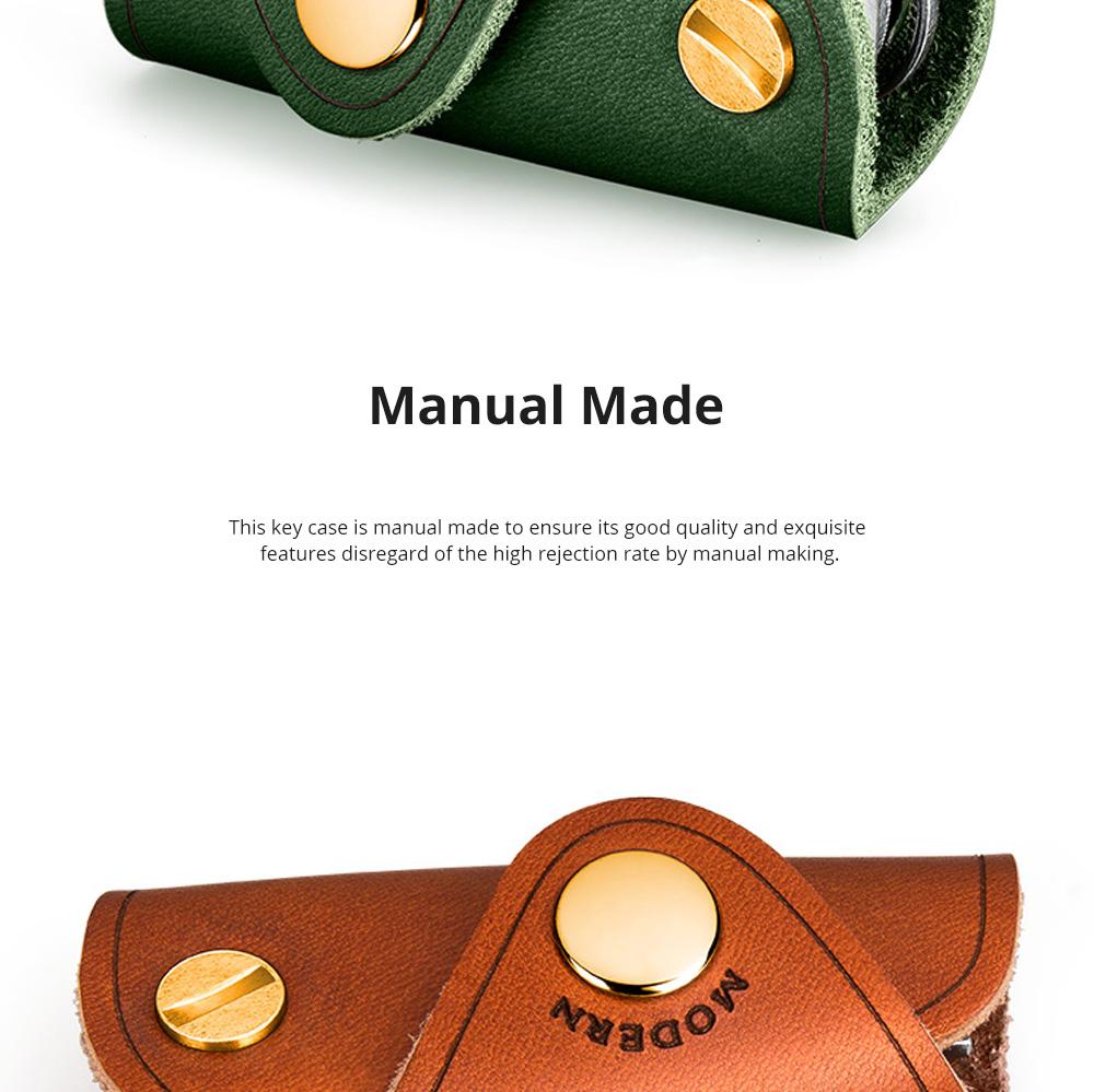 Retro Key Case for Key Storage Creative Real Cow Leather Key Storage Bag Soft Resilient Key Case Large Size Key Holder 3