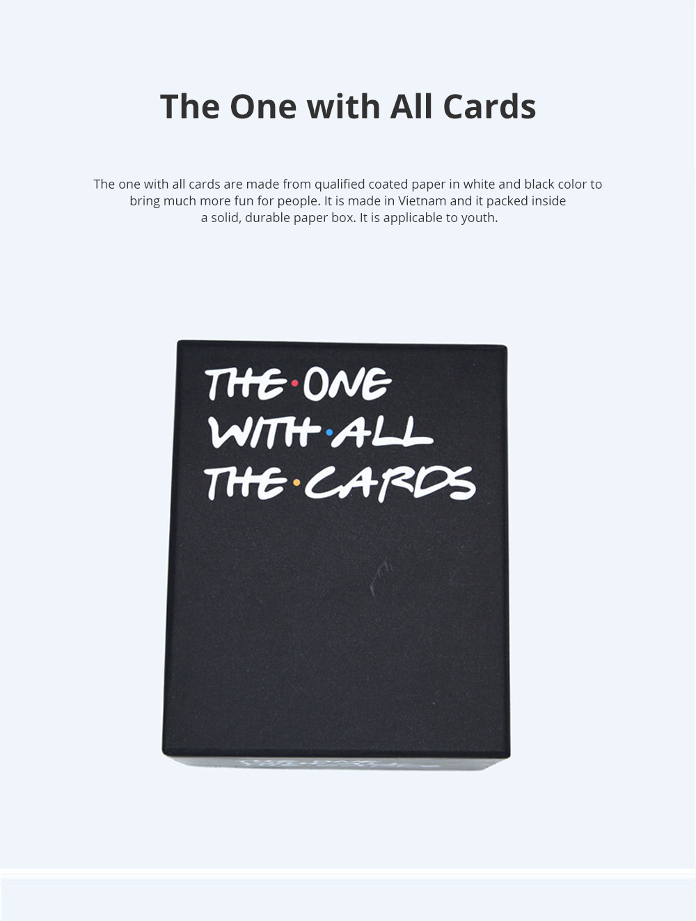 The One with All Cards Role-playing Games Interesting Coated Paper Poker Cards Against Humanity 0
