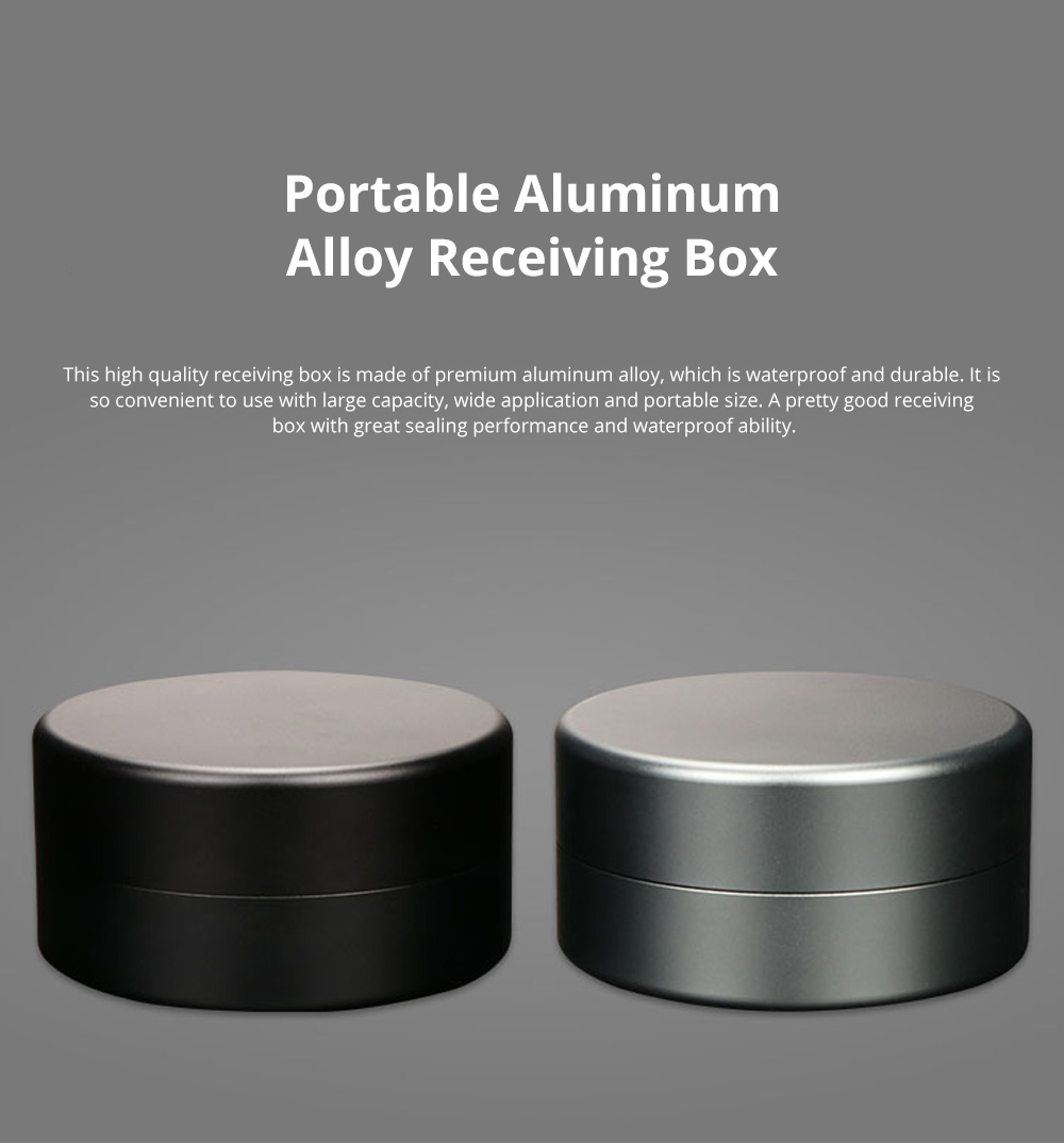 Portable Aluminum Alloy Receiving Box with Large Capacity Multifunctional Organizer Box for Pill Tea Candy 0