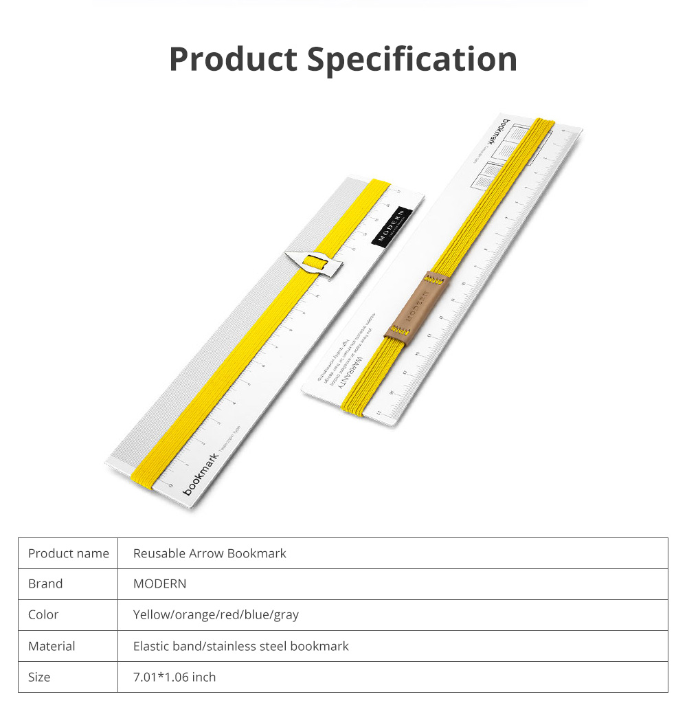 Reusable Arrow Bookmark with High Elastic Strap and Precise Navigation for School Supplies Stationery 2pcs 6