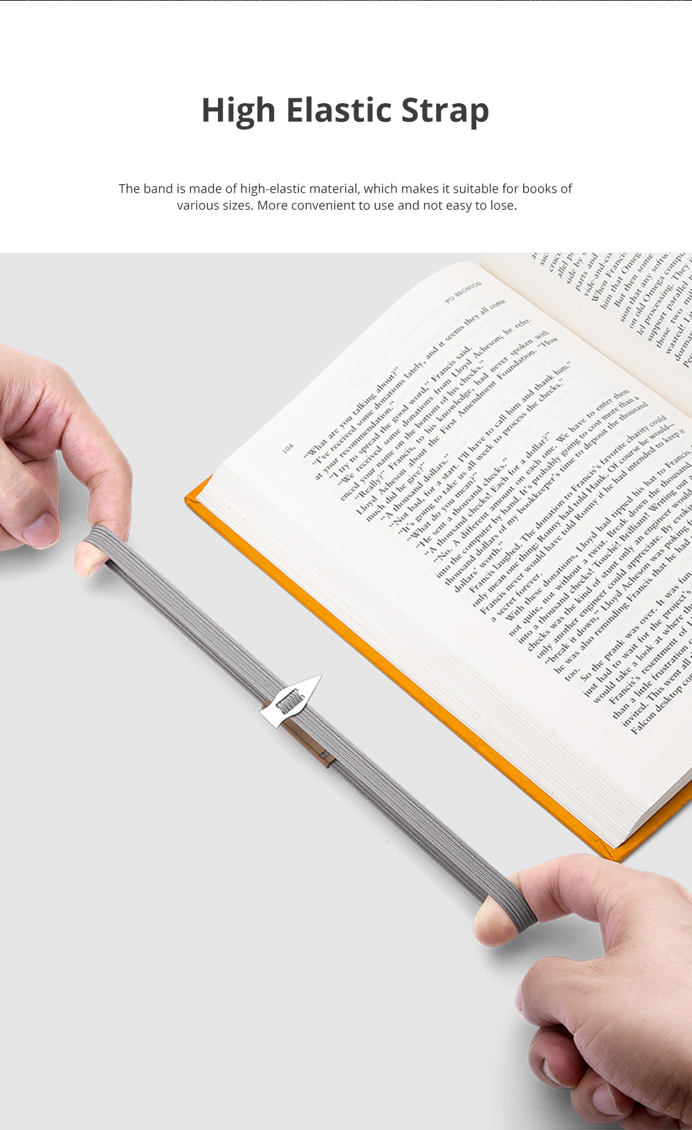 Reusable Arrow Bookmark with High Elastic Strap and Precise Navigation for School Supplies Stationery 2pcs 1