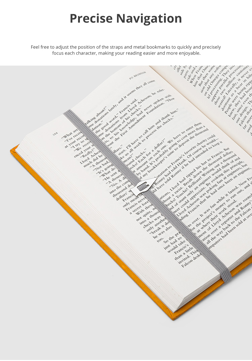 Reusable Arrow Bookmark with High Elastic Strap and Precise Navigation for School Supplies Stationery 2pcs 3