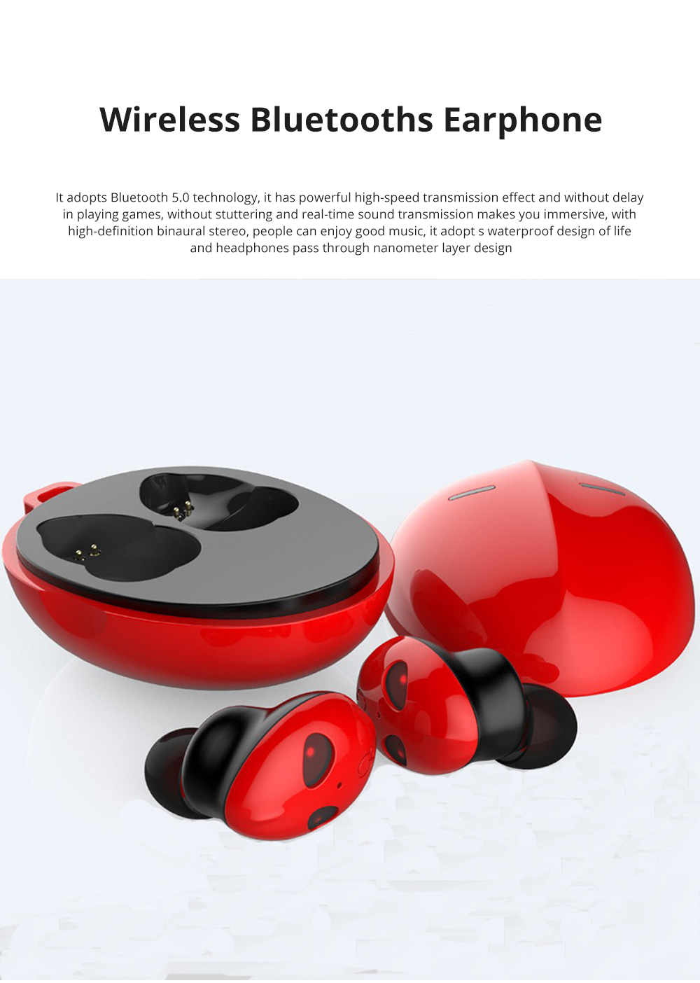 Alien Smart Touch Unique Cavity Structure Mini In Ear Earpiece Hands Free Wireless Bluetooths Earphone Earbuds For Gaming 0