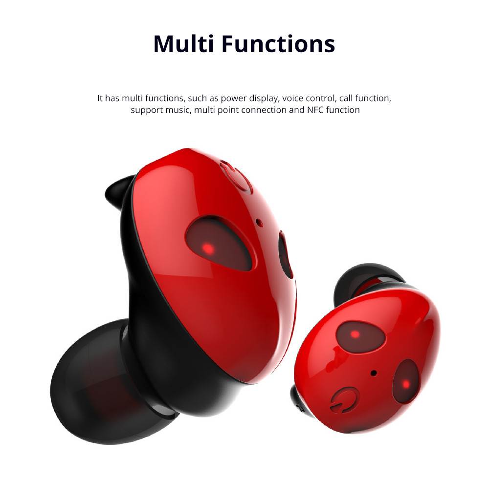 Alien Smart Touch Unique Cavity Structure Mini In Ear Earpiece Hands Free Wireless Bluetooths Earphone Earbuds For Gaming 5