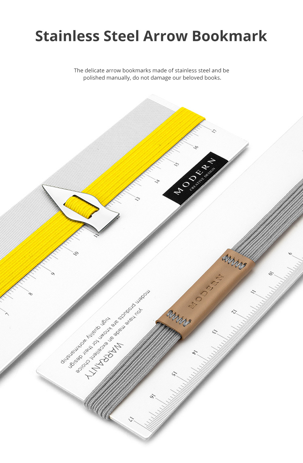 Reusable Arrow Bookmark with High Elastic Strap and Precise Navigation for School Supplies Stationery 2pcs 2