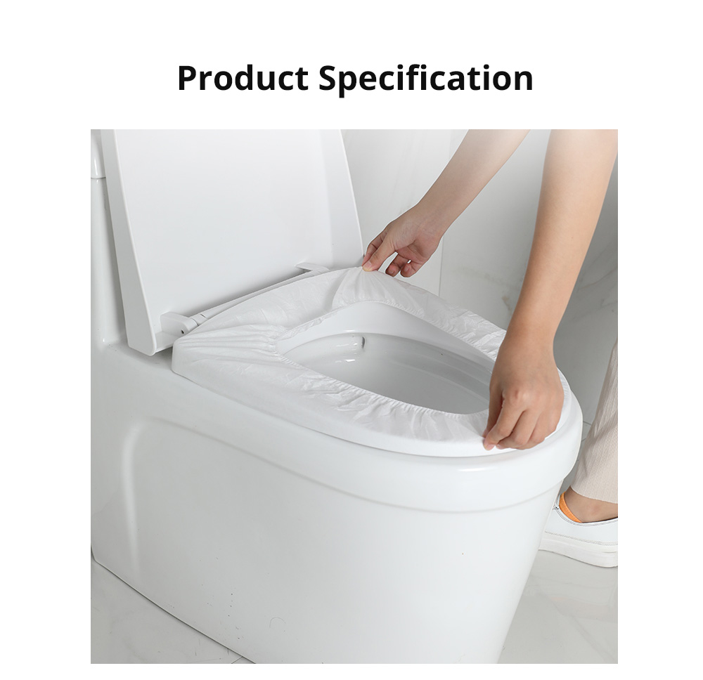 Disposable Toilet Seat Cover with Independent Packing Non Slip Toilet Sticker with Location Paste for Home Hospital Travelling 5