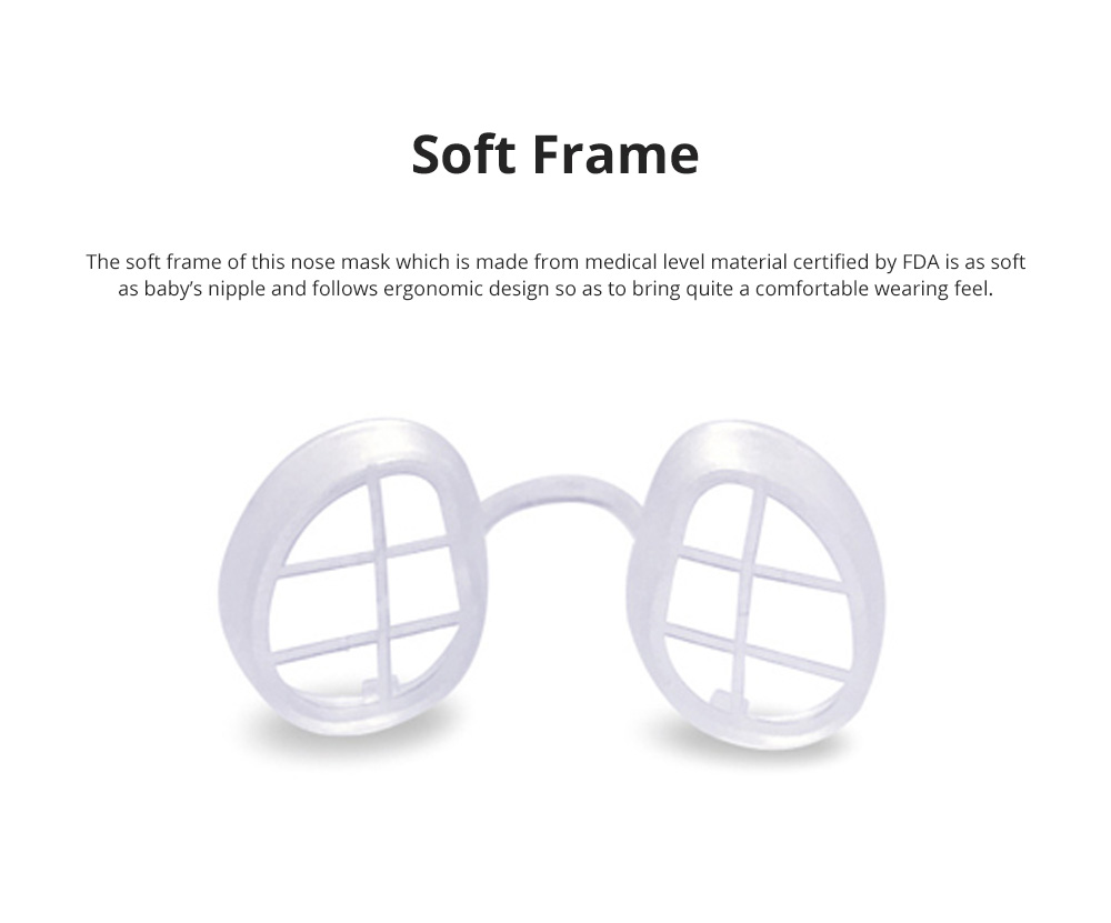 Invisible KN90 Nose Mask for Outdoors Sports Activities Breathable Anti-dust Nasal Mask Allergy Free Sports Nose Mask 6
