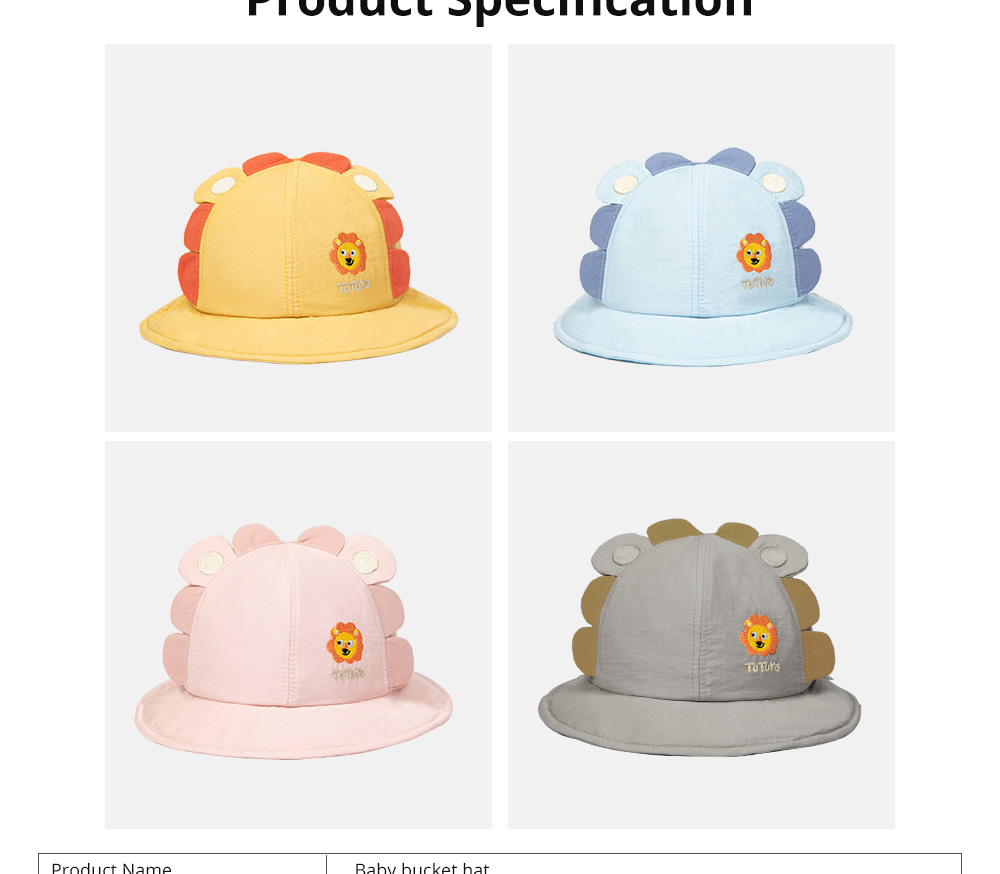 Bucket Hat for Babies Sunshine Shade Thin Spring Cotton Hat Lovely Comfortable Baby Bucket Hat Breathable Baby Hat 8