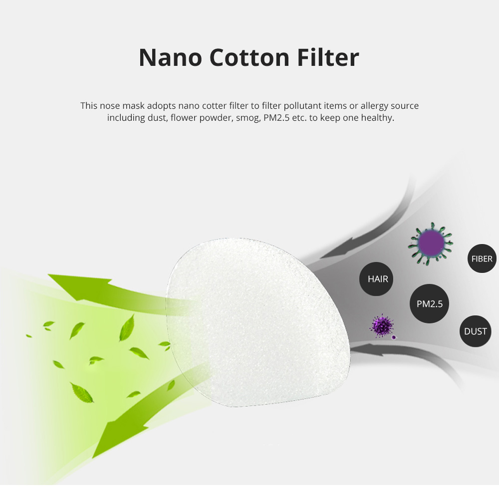 Invisible KN90 Nose Mask for Outdoors Sports Activities Breathable Anti-dust Nasal Mask Allergy Free Sports Nose Mask 5