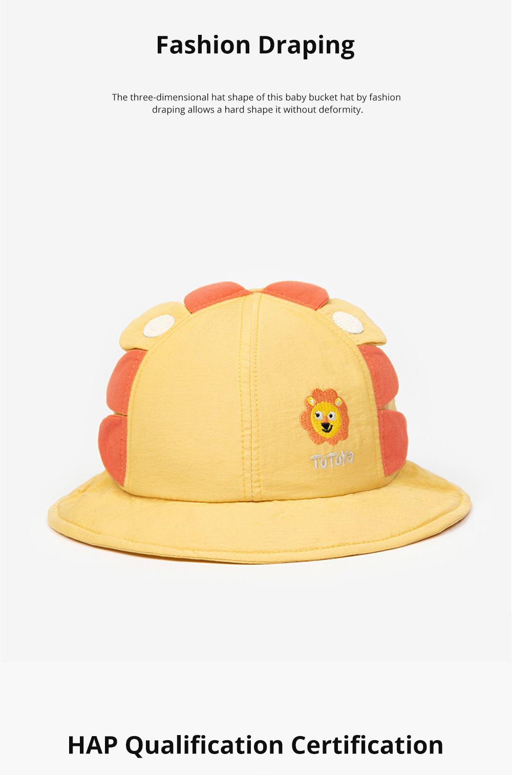 Bucket Hat for Babies Sunshine Shade Thin Spring Cotton Hat Lovely Comfortable Baby Bucket Hat Breathable Baby Hat 5