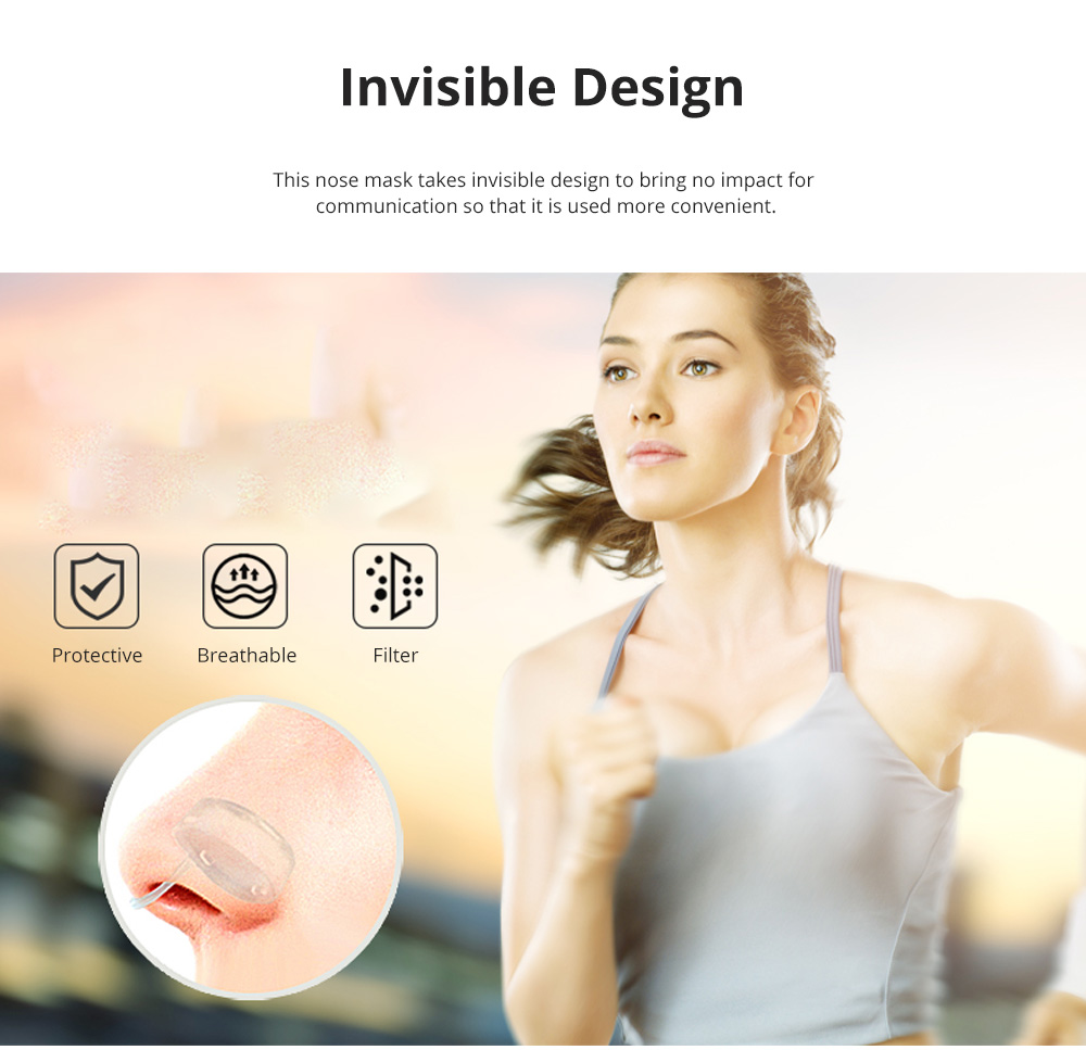 Invisible KN90 Nose Mask for Outdoors Sports Activities Breathable Anti-dust Nasal Mask Allergy Free Sports Nose Mask 1