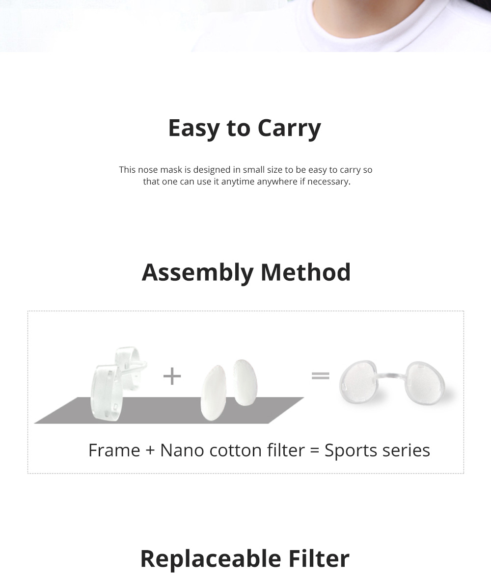 Invisible KN90 Nose Mask for Outdoors Sports Activities Breathable Anti-dust Nasal Mask Allergy Free Sports Nose Mask 3