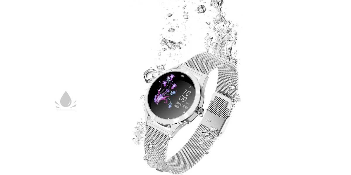 The KW10 smartwatch is waterproof