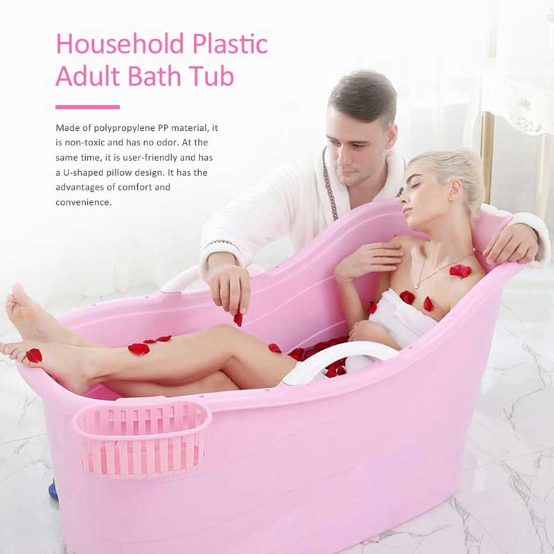 Oversized plastic portable bathtub, thickened