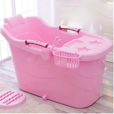 Thickened super large plastic adult portable bath tub
