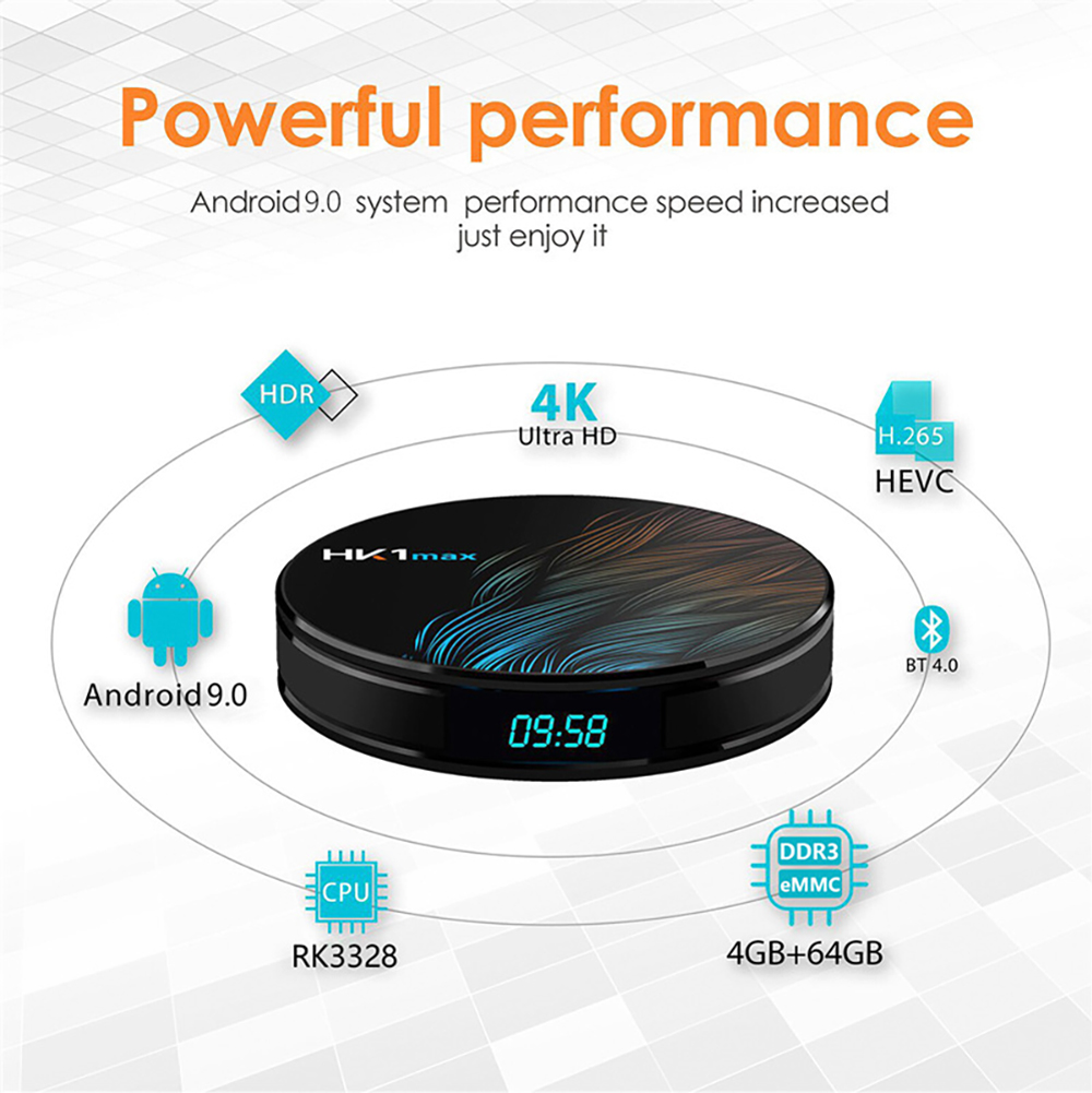 HK1 MAX TV Box RK3318 Voice Control Player Android 9.0 4K Wifi TV Box 4GB 64GB 32GB  3