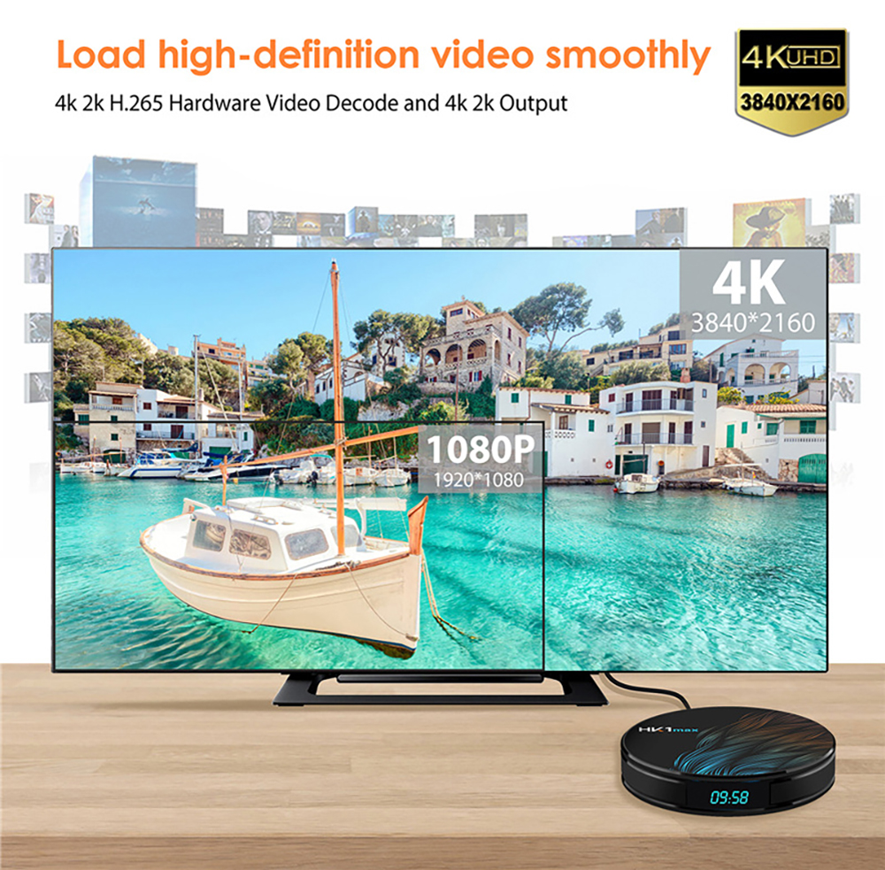 HK1 MAX TV Box RK3318 Voice Control Player Android 9.0 4K Wifi TV Box 4GB 64GB 32GB  5