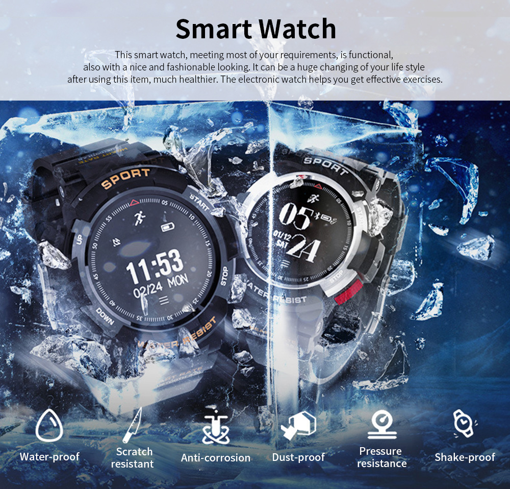 Latest Smart Watch 2019 With Bluetooth function For Android and IOS, Support for Movement and Heart Rate Measurement 0
