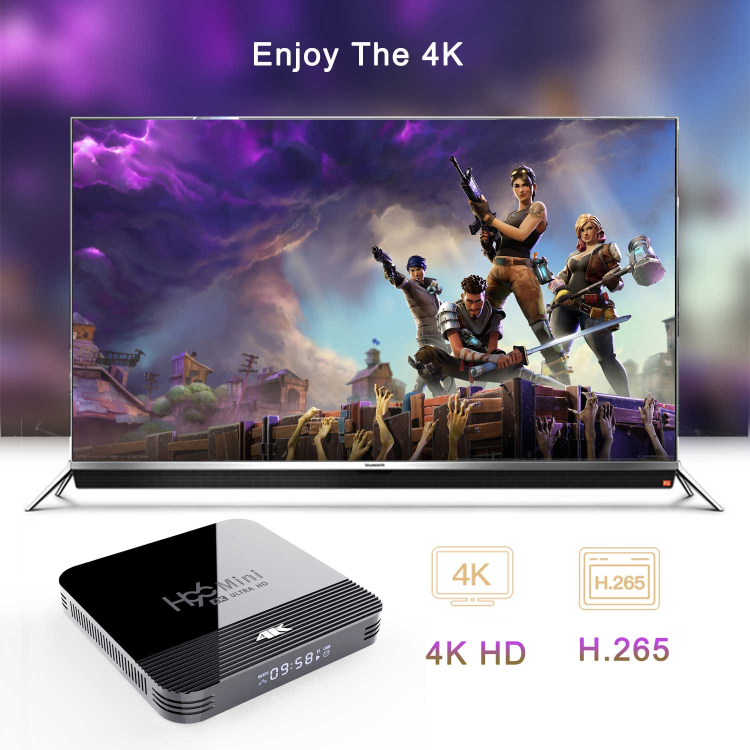 2019 Newest H96 Mini H8 RK3228A 4K TV Box 2GB+16GB Android 9.0 Set Top Box with BT4.0 2.4G/5G WiFi 4