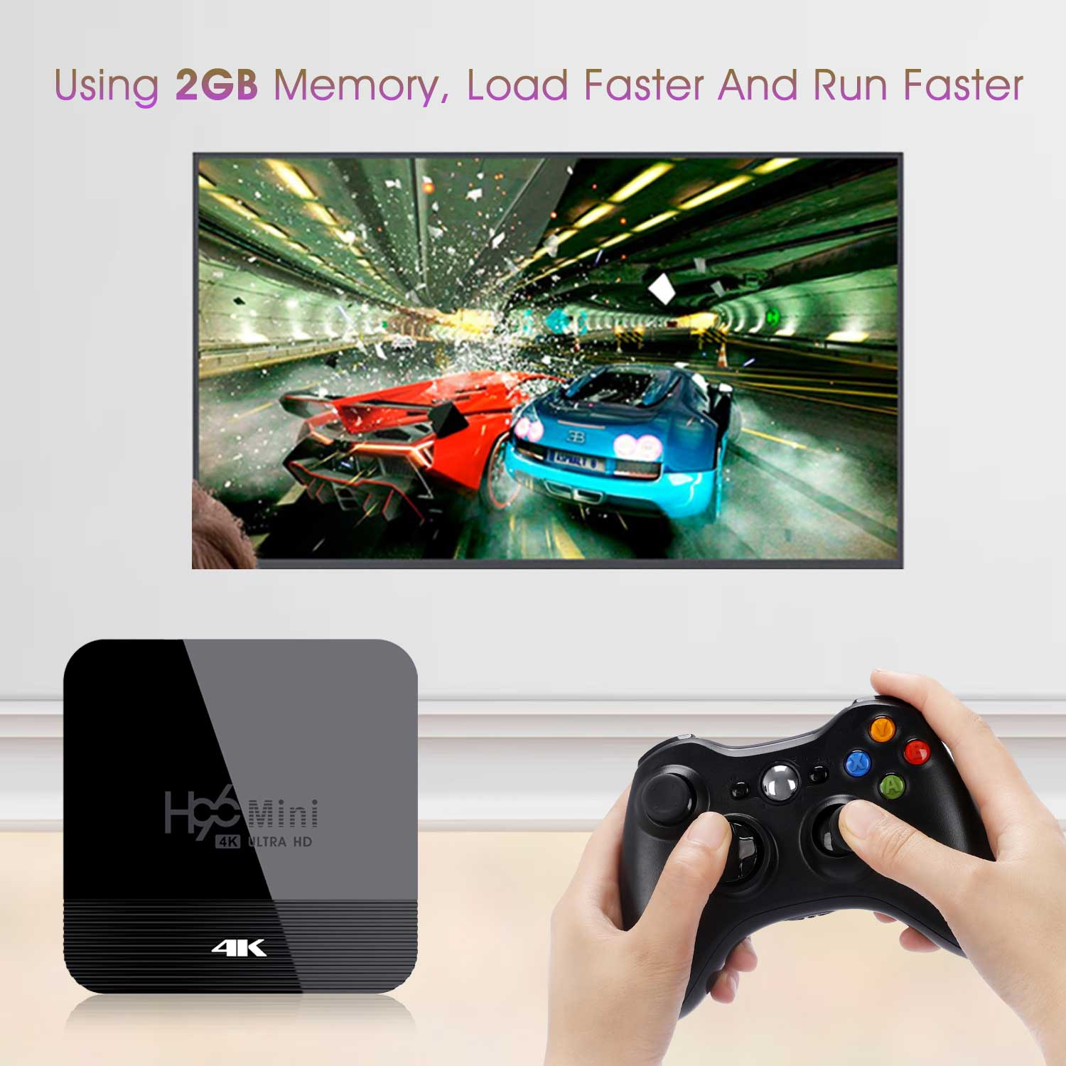 2019 Newest H96 Mini H8 RK3228A 4K TV Box 2GB+16GB Android 9.0 Set Top Box with BT4.0 2.4G/5G WiFi 6