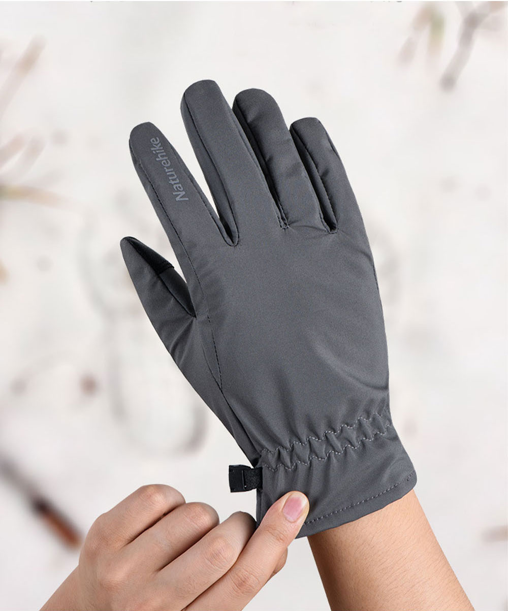 Naturehike GL04 Touch Screen Wind-proof Rain-proof Outdoor Warm Gloves High Quality Velvet Thicken Hand Protectors for Men and Women 5