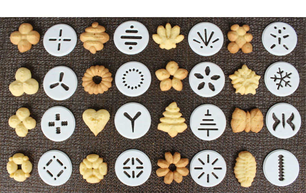 High Quality Stainless Steel Biscuit Machine with Sixteen Flower Pieces Six Decorating Mouth Multi-functional Machine for Cookie Baking 6