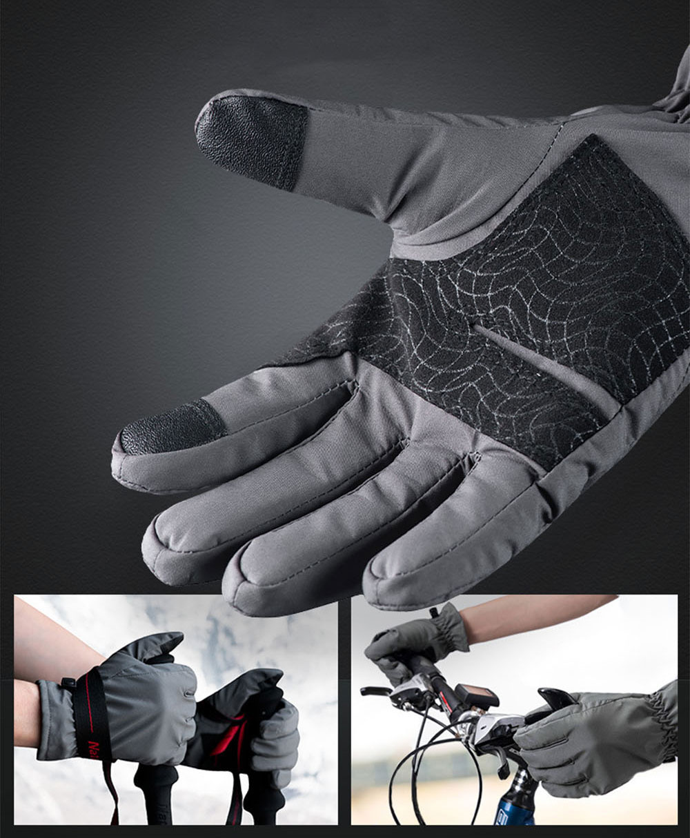 Naturehike GL04 Touch Screen Wind-proof Rain-proof Outdoor Warm Gloves High Quality Velvet Thicken Hand Protectors for Men and Women 9